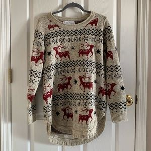 Ugly Christmas Sweater With Reindeer By Shineflow